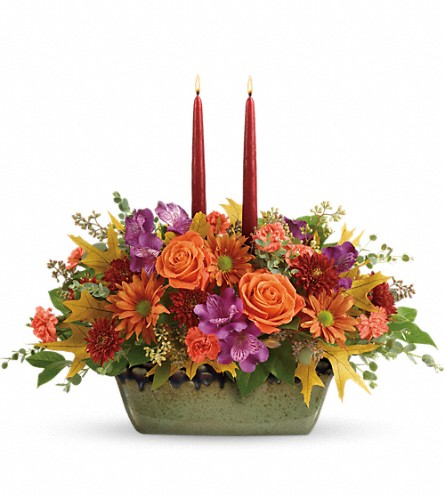 Teleflora's Country Sunrise Centerpiece in Austin TX, Wolff's Floral Designs