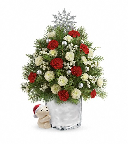Send a Hug Cuddly Christmas Tree by Teleflora in Reading PA, Heck Bros Florist