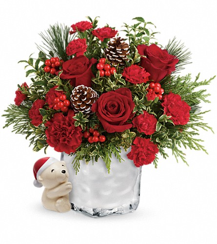Send a Hug Winter Cuddles by Teleflora in St Louis MO, Bloomers Florist & Gifts