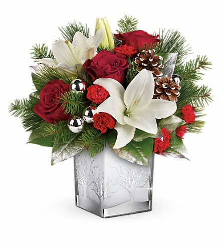 Teleflora's Frosted Forest Bouquet in Amherst NY, The Trillium's Courtyard Florist