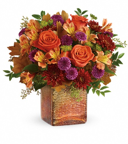 Teleflora's Golden Amber Bouquet in Laurel MD, Rainbow Florist & Delectables, Inc.