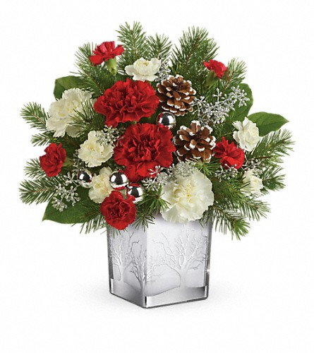 Teleflora's Woodland Winter Bouquet in Amherst NY, The Trillium's Courtyard Florist