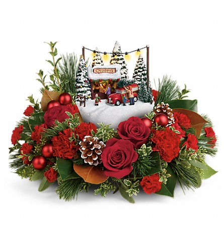 Thomas Kinkade's Festive Moments Bouquet in Cranbrook BC, M J's Floral Boutique