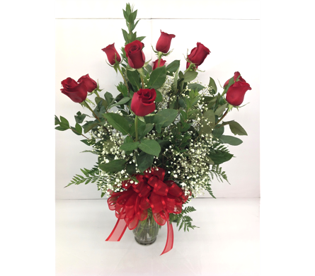 Red Roses In A Vase in Smyrna GA, Floral Creations Florist