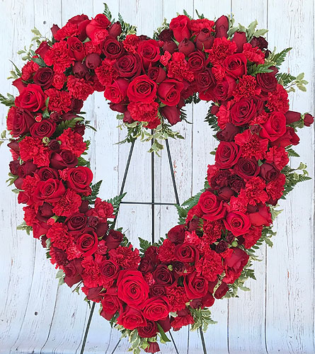 Red Rose Open Heart Easel in Tempe AZ, Bobbie's Flowers