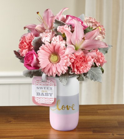 The Sweet Baby Girl™ Bouquet by Hallmark - VASE IN in Sapulpa OK, Neal & Jean's Flowers & Gifts, Inc.