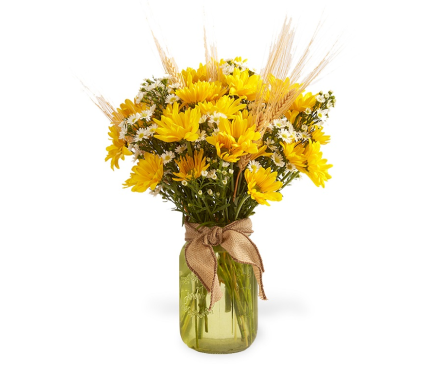 Fall Daisy Vase in Big Rapids MI, Patterson's Flowers, Inc.