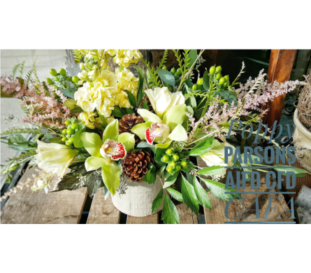 Modern Fall- texture with orchids in Swift Current SK, Smart Flowers