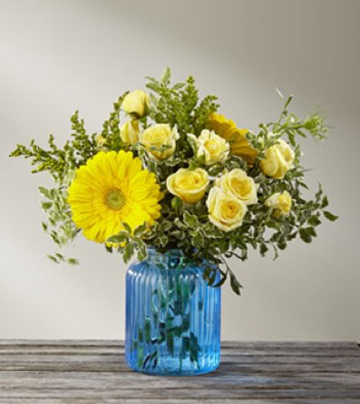 The Something Blue™ Bouquet by BHG in Sapulpa OK, Neal & Jean's Flowers & Gifts, Inc.