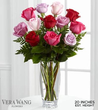 The Captivating Color™ Rose Bouquet by Vera Wang in Sapulpa OK, Neal & Jean's Flowers & Gifts, Inc.