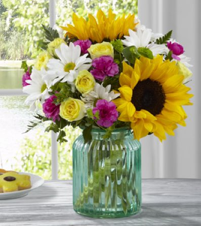 The Sunlit Meadows™ Bouquet by BHG® in Sapulpa OK, Neal & Jean's Flowers, Inc.
