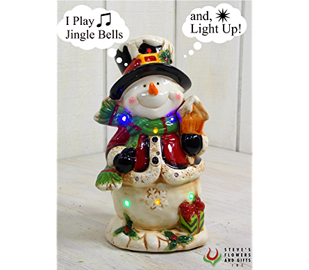 Musical Jolly Snowman in Indianapolis IN, Steve's Flowers and Gifts