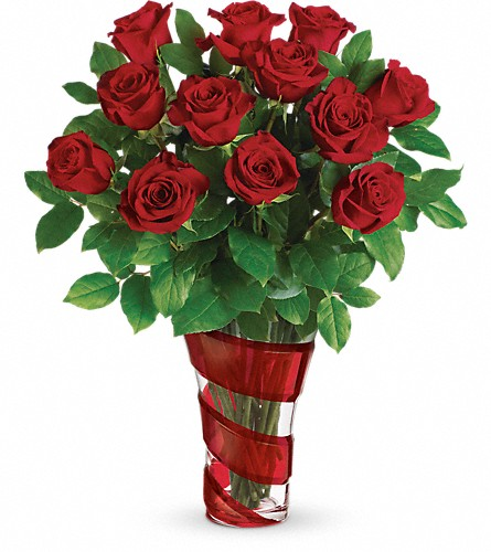 Teleflora's Dancing In Roses Bouquet in Aston PA, Wise Originals Florists & Gifts