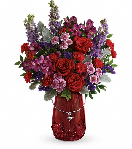 Teleflora's Delicate Heart Bouquet in Edmonton AB, Petals For Less Ltd.