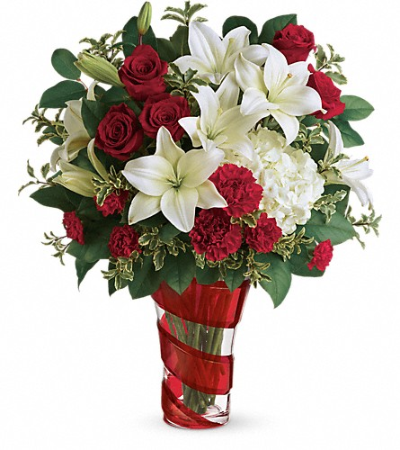 Teleflora's Work Of Heart Bouquet in Omaha NE, Terryl's Flower Garden