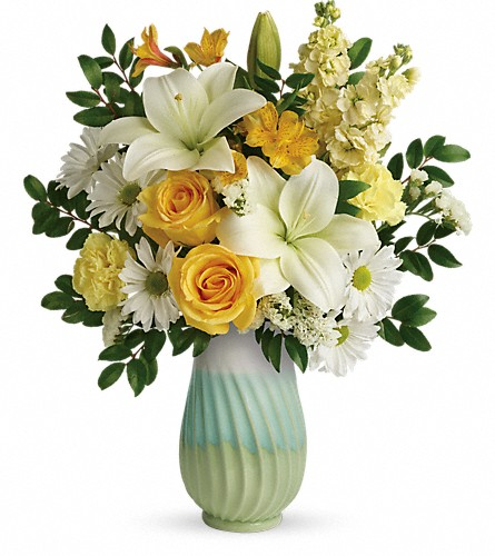 Teleflora's Art Of Spring Bouquet in Lewiston ME, Val's Flower Boutique, Inc.