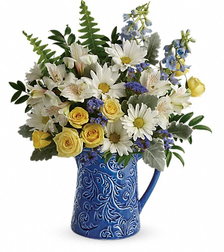Teleflora's Bright Skies Bouquet in Walled Lake MI, Watkins Flowers