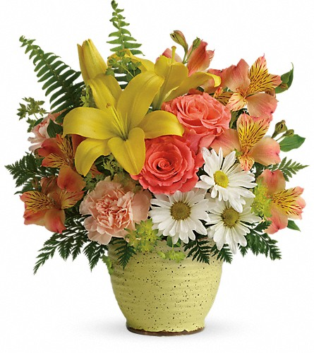 Teleflora's Clear Morning Bouquet in McHenry IL, Locker's Flowers, Greenhouse & Gifts