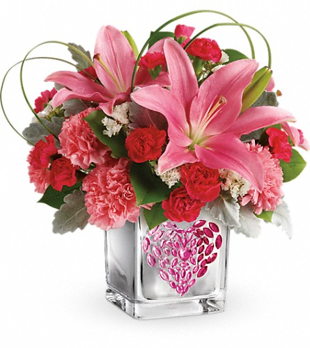 Teleflora's Jeweled Heart Bouquet in Edmonton AB, Petals For Less Ltd.