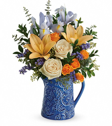 Teleflora's  Spring Beauty Bouquet in Edmonton AB, Petals For Less Ltd.