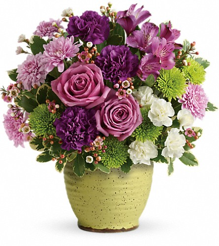 Teleflora's Spring Speckle Bouquet in Syracuse NY, St Agnes Floral Shop, Inc.