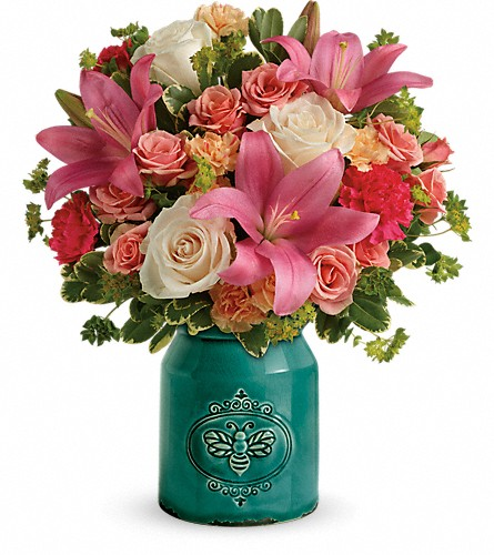 Teleflora's Country Skies Bouquet in Boone NC, Log House Florist