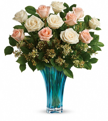 Teleflora's Ocean Of Roses Bouquet in Belford NJ, Flower Power Florist & Gifts