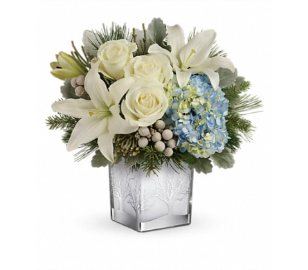 Silver Snow Bouquet in Smyrna GA, Floral Creations Florist