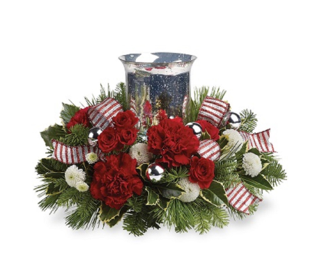 Holly Jolly Centerpiece in Big Rapids MI, Patterson's Flowers, Inc.
