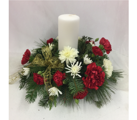 Holiday Magic Centerpiece in Geneva NY, Don's Own Flower Shop