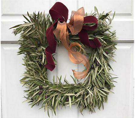 Holiday Wreath 2 in Sacramento CA, G. Rossi & Co.