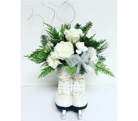 Ice Skates Christmas Arrangement - All Around in Wyoming MI, Wyoming Stuyvesant Floral