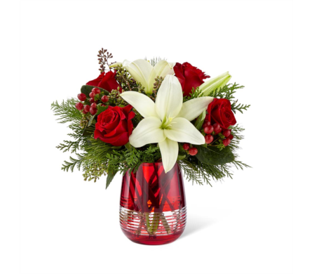 The FTD® Festive Holiday™ Bouquet by Vera Wang in Des Moines IA, Doherty's Flowers
