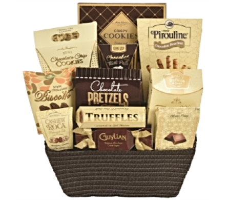 Bank of Chocolates Gourmet Basket in Timmins ON, Timmins Flower Shop Inc.