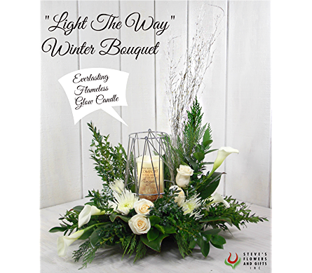 Light The Way Winter Bouquet in Indianapolis IN, Steve's Flowers and Gifts