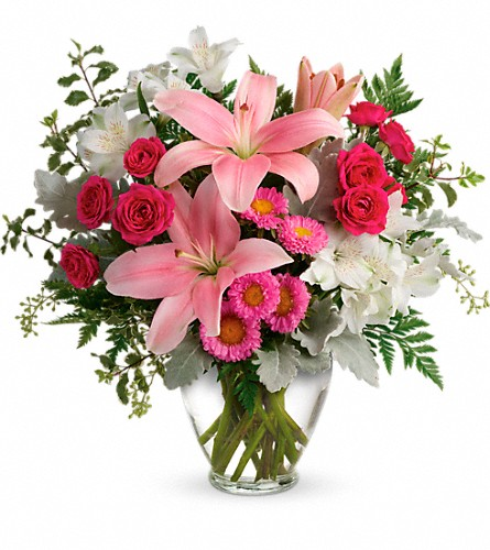 Blush Rush Bouquet in Lancaster WI, Country Flowers & Gifts