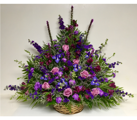 Shades of Purple Basket Arrangement in Wyoming MI, Wyoming Stuyvesant Floral