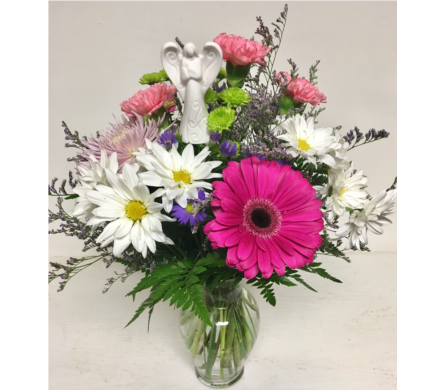 Angel's Touch Arrangement-7 inch Vase-All-Around in Wyoming MI, Wyoming Stuyvesant Floral