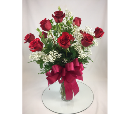 One Dozen Premium Red Roses in Lemoore CA, Ramblin' Rose Florist