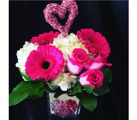 Heart Gemstones in Needham MA, Needham Florist
