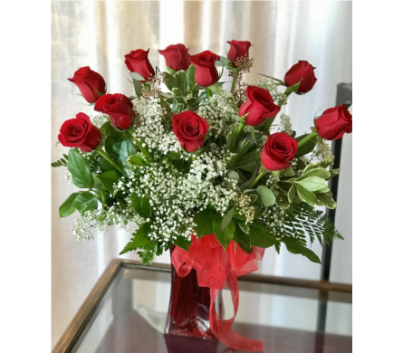 NF Dozen Red Roses in Naperville IL, Naperville Florist