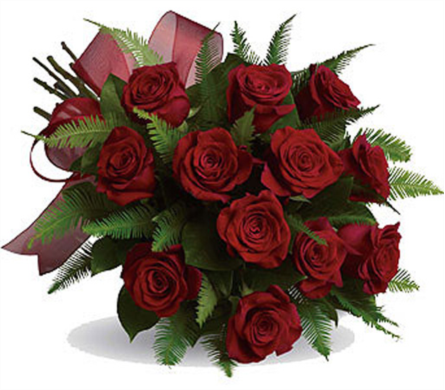 12 Red Roses Wrapped in Kelowna BC, Burnetts Florist & Gifts