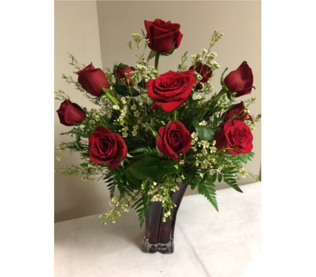 One Dozen Red Roses in Laurel MD, Rainbow Florist & Delectables, Inc.