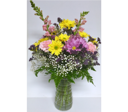 Pastel Traditions Vase-All Around-9 inch Vase in Wyoming MI, Wyoming Stuyvesant Floral