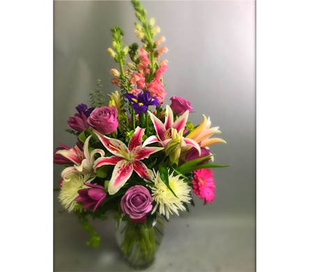 PINKS, PURPLES & WHITE PLEASE in Missouri City TX, Flowers By Adela