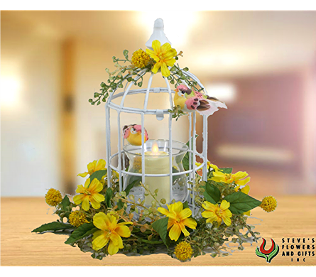 Birdcage Moving Flame Candlholder in Indianapolis IN, Steve's Flowers and Gifts