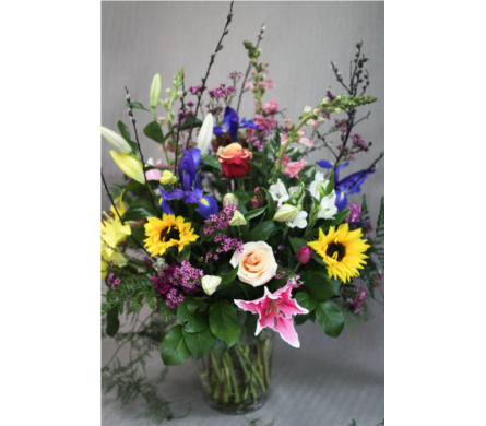 Mother Love Spring Arrangement in Salmon Arm BC, Wildwood Flower Emporium