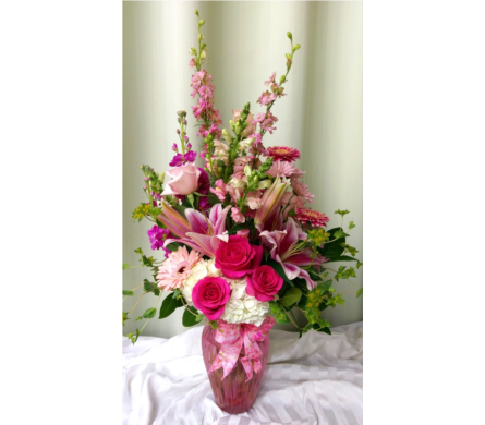 Pink & Fabulous in Kennett Square PA, Barber's Florist Of Kennett Square