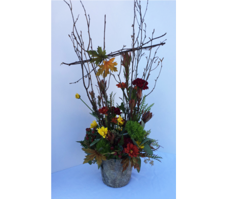Autumn Woods - Large in Muskegon MI, Wasserman's Flower Shop
