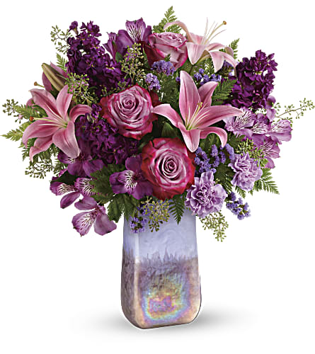 Teleflora's Amethyst Jewel Bouquet in Los Angeles CA, RTI Tech Lab